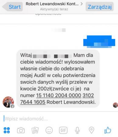 Źródło: http://www.spidersweb.pl/2017/01/robert-lewandowski-facebook-oszustwo.html