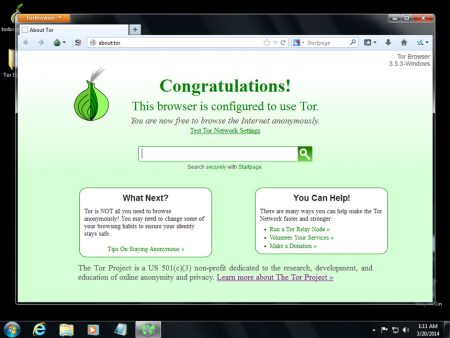 Przeglądarka internetowa Tor Browser