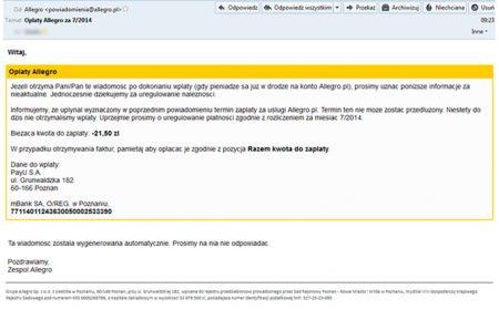 Źródło: http://www.gawex.pl/wiadomosci/wydarzenia/7077/Uwaga-Falszywe-faktury-z-Allegro-i-Netii-zasypaly-dzis-Internet