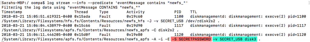 Źródło: https://www.mac4n6.com/blog/2018/3/21/uh-oh-unified-logs-in-high-sierra-1013-show-plaintext-password-for-apfs-encrypted-external-volumes-via-disk-utilityapp