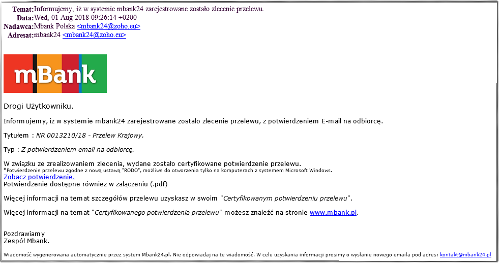 Źródło: https://www.mbank.pl/informacje-dla-klienta/indywidualny/post,8337,ostrzegamy-przed-falszywymi-mailami.html