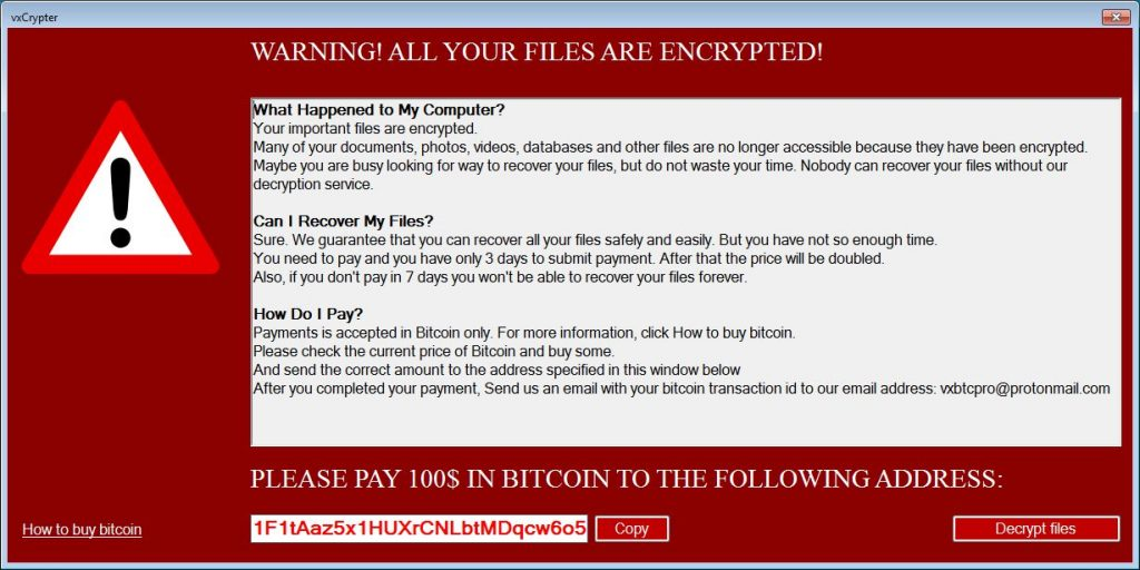 Źródło: https://www.bleepingcomputer.com/news/security/vxcrypter-is-the-first-ransomware-to-delete-duplicate-files/